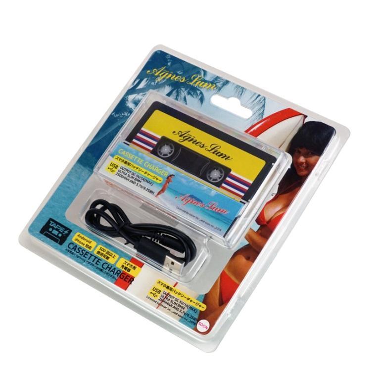 アグネスラム カセットテープ型携帯充電器